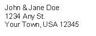 Standard Address Label