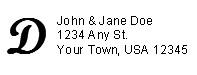 Address Label w/ Monogram