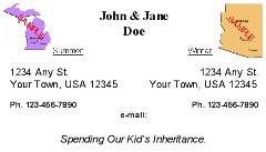 Unique personal business cards address cards snowbird full time rver address card personal business colourmoves