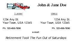 Snowbird & Fulltime RVer Address Card